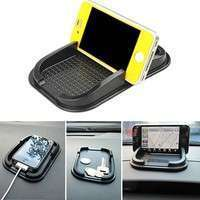 18Ug-Car Dashboard Sticky Pad Mat Anti Non Slip Gadget Mobile Phone GPS Holder Phone Mount (Color: Black)
