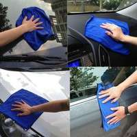 1El1-2PCS Sponge Home Cleaning Auto Care Car's Accessories Absorbent Microfiber Wash Cloth Towels