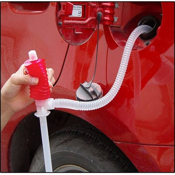 Car Siphon Hose Liquid Gas Oil Water Transfer Hand Pump Sucker Plastic Portable Manual Pump