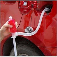 1JAV-Car Siphon Hose Liquid Gas Oil Water Transfer Hand Pump Sucker Plastic Portable Manual Pump