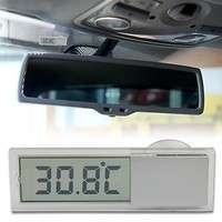 1JTr-Car Windshield Rear View Mirror LCD Digital Room Temperature Meter Thermometer
