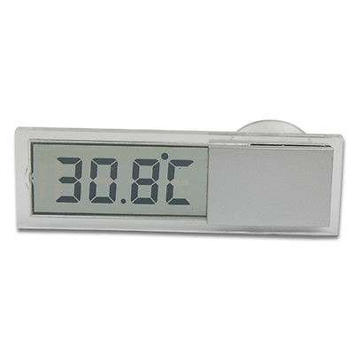 Car Windshield Rear View Mirror LCD Digital Room Temperature Meter Thermometer-1