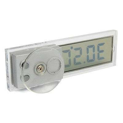 Car Windshield Rear View Mirror LCD Digital Room Temperature Meter Thermometer-2