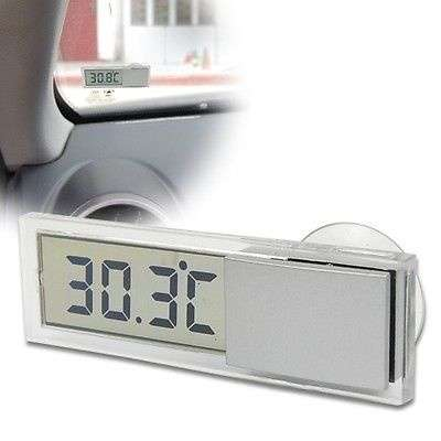 Car Windshield Rear View Mirror LCD Digital Room Temperature Meter Thermometer-3