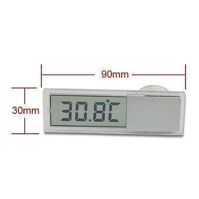 Car Windshield Rear View Mirror LCD Digital Room Temperature Meter Thermometer-5