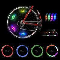 1gAF-Flashing LED Bicycle Cycling Bike Wheel Valve Wire Tyre Bright Light Spoke Lamp