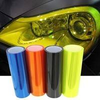 1rWx-Fashion Reflective Car Light Sticker Headlight Taillight Tint Film