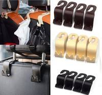 1sUX-4Pcs Car Seat Back Headrest Holder Hook For Bag Coat Organizer Holder Universal Modern