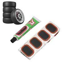 1w5z-48pcs Bike Tire Bicycle Kit Patches Repair Glue Tyre Tube Rubber Puncture
