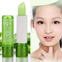 Women's Aloe Vera Lipstick Color Changing Moisturizing Lip Cream Cosmetics-4