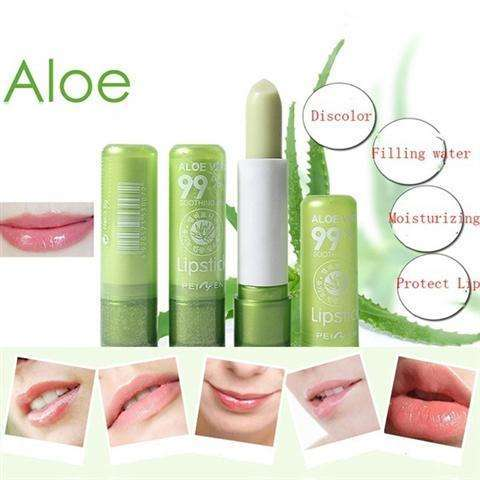 Women's Aloe Vera Lipstick Color Changing Moisturizing Lip Cream Cosmetics-1