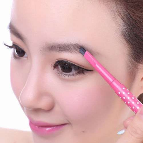 Waterproof Dark Brown Eyebrow Pencil Eye Brow Liner Powder Shaper Makeup Tool-1