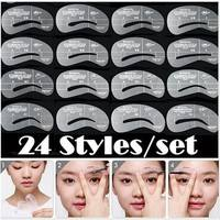 B9my-Pro 24 Styles Grooming Stencil Kit Makeup Shaping DIY Beauty Eyebrow Template Stencils Tools Makeup Accessories