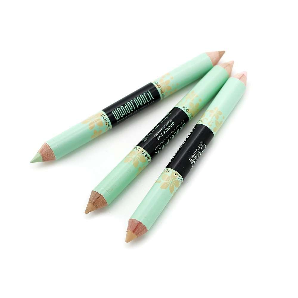New Highlighter Long Lasting Makeup Double-end Blemish Cream Concealer Pen Pencil