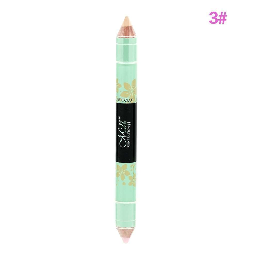 New Highlighter Long Lasting Makeup Double-end Blemish Cream Concealer Pen Pencil-4