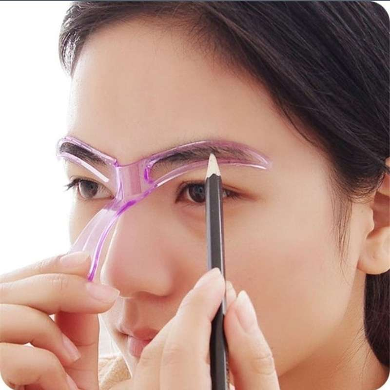 Professional Beauty Tool Women Makeup Grooming Drawing Blacken Eyebrow Template-3