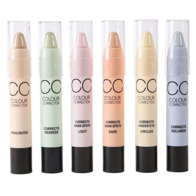 Face Makeup CC Color Corrector Blemish Concealer Cream Base Palette Pen Pencil Corrective Stick-1