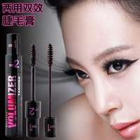 Bg4G-HOT 2 In1 Mascara Brand New Design Long Fiber Curling Eyelash Mascara Eye Lashes Makeup Cosmetics Maquiagens Black