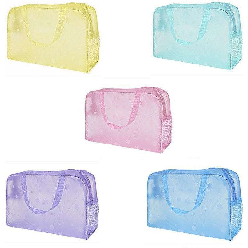 Hot Clear and Waterproof Bag Wash Case Toiletry Organizer Travel Make Up Totes