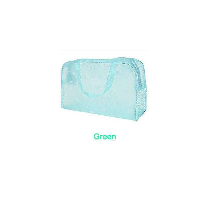 Hot Clear and Waterproof Bag Wash Case Toiletry Organizer Travel Make Up Totes-2