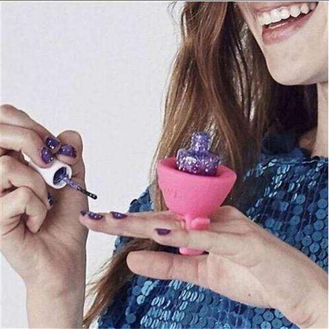 Wearables Silicone Nail Polish Bottle Holders Nail Beauty Supplies Base-1