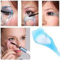 Bs2T-Guide Color Random Protect Eyes 3-In-1 Eyelash Comb Template Applicator Tool Make Up Brush Mascara Shield