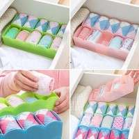 C1u1-Multi-function Desktop Drawer Storage Box Clothing Organizer Five Grid Storage Box Underwear Socks Bra Ties Organizer
