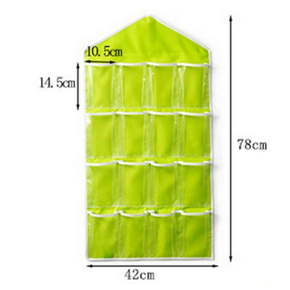 Fashion Life Home Ling Supplies Multi functional 16 Pockets Transparent Closet Tidy Organizer Storage Bag-2