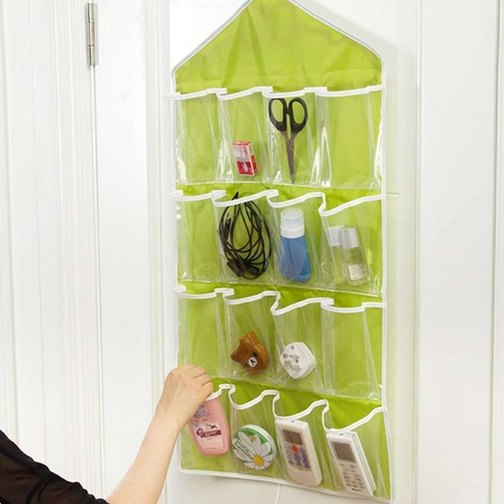 Fashion Life Home Ling Supplies Multi functional 16 Pockets Transparent Closet Tidy Organizer Storage Bag-4