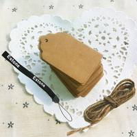 D1Bb-50 Pcs Blank Brown Kraft Paper Marked Blank Card Hand Draw Tags Labeled Card