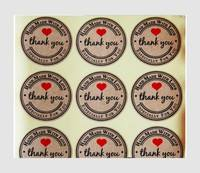 D6a2-120pcs Thank You  Craft Packaging Seals Kraft Sticker Labels Sealing Topper