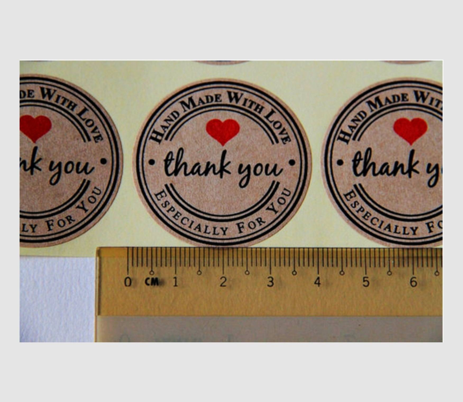 120pcs Thank You  Craft Packaging Seals Kraft Sticker Labels Sealing Topper-1