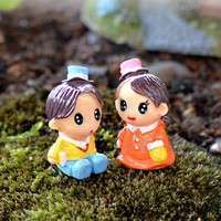 DAYR-1 Pairs Lovers Baby Miniature Dollhouse Bonsai Fairy Garden Landscape Decor