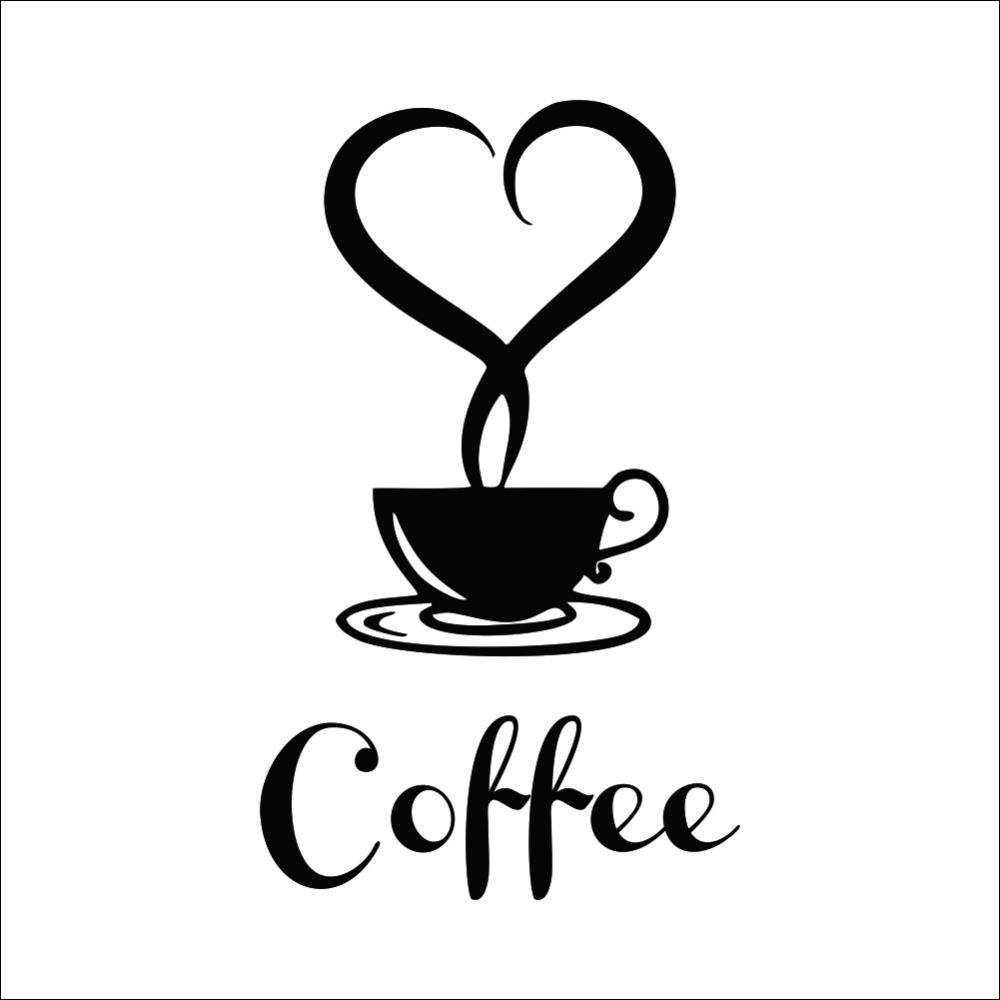 Coffee Restaurant wall decor home decorations removable vinyl wall art  sticker