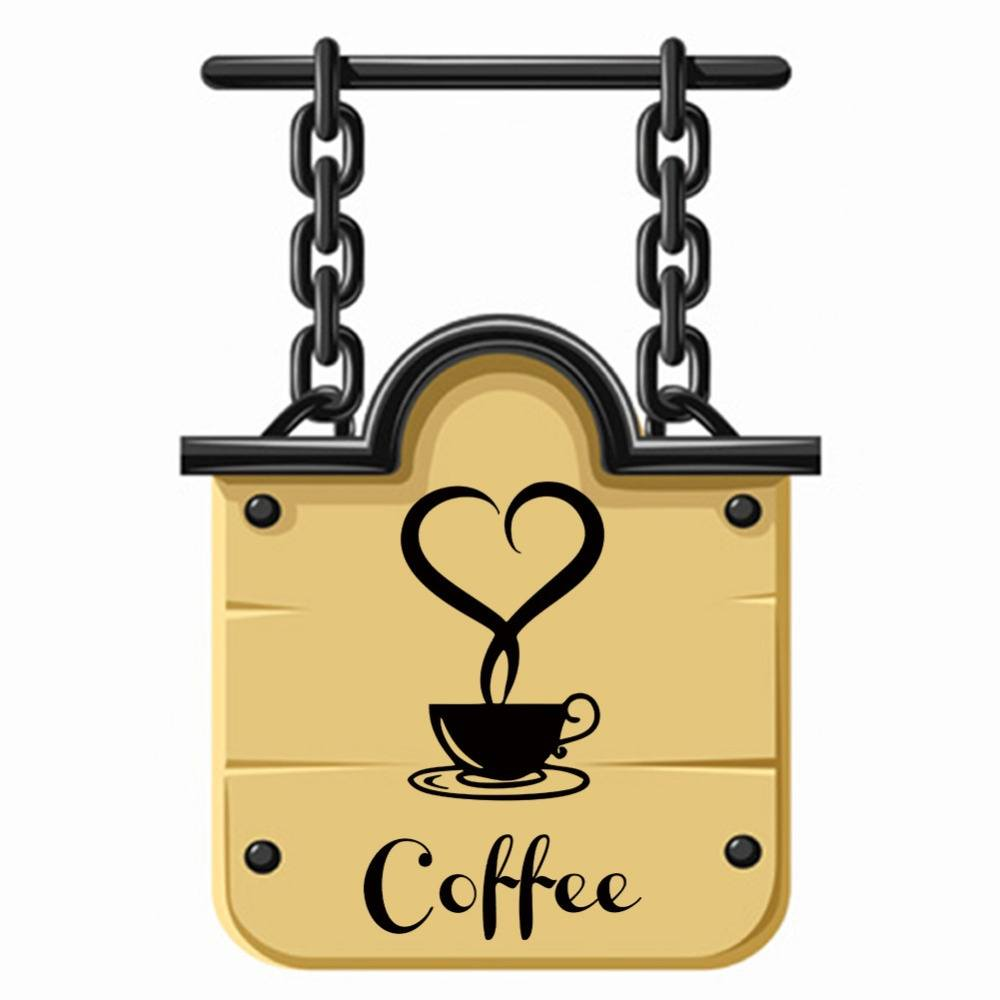 Coffee Restaurant wall decor home decorations removable vinyl wall art  sticker-1