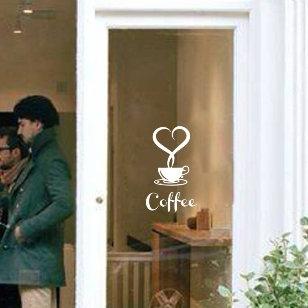 Coffee Restaurant wall decor home decorations removable vinyl wall art  sticker-2