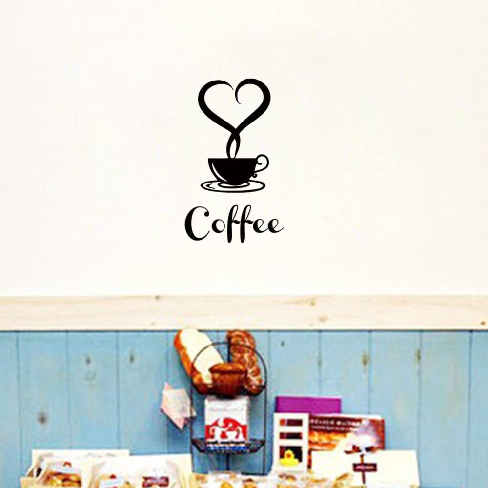 Coffee Restaurant wall decor home decorations removable vinyl wall art  sticker-3