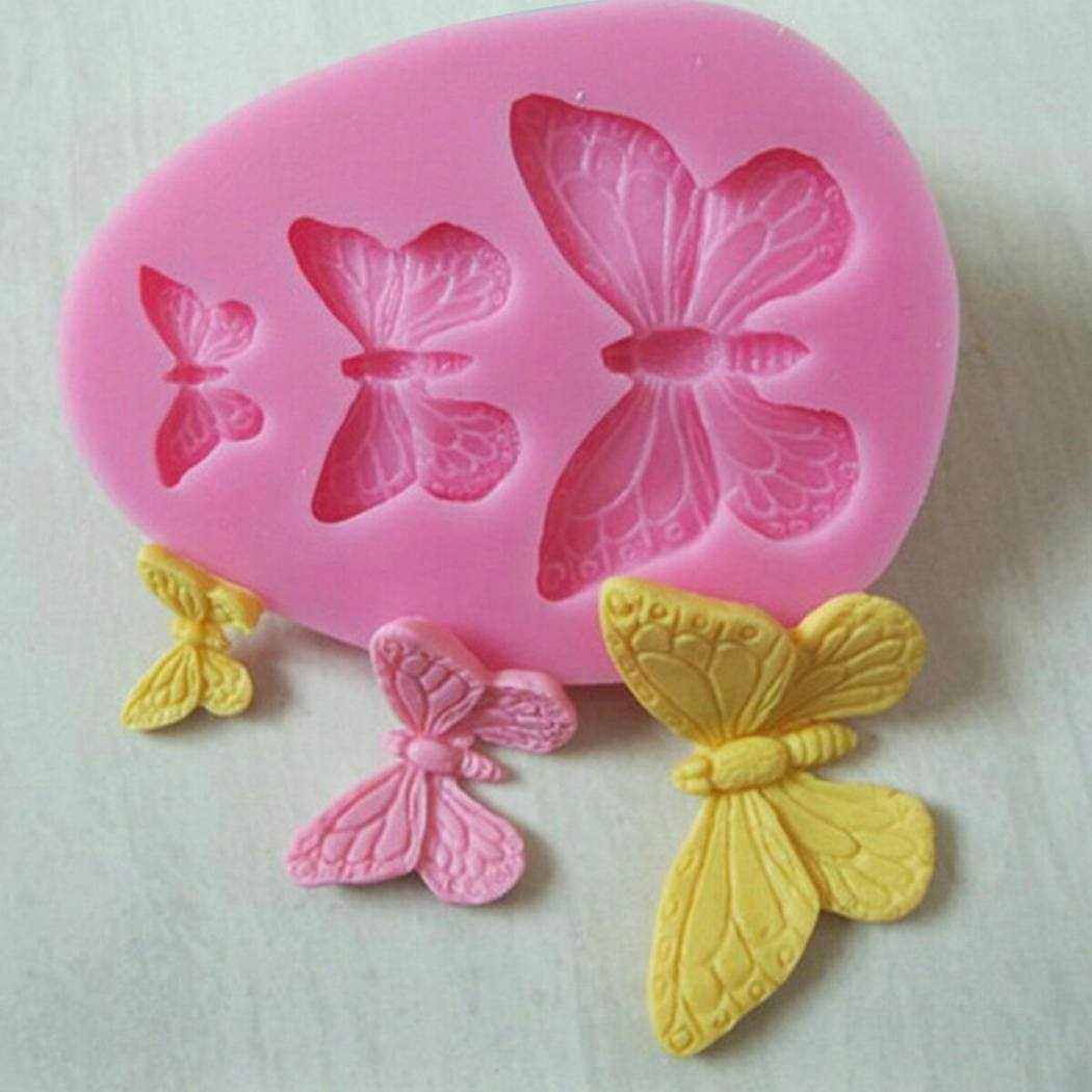 3D Butterfly Cake Wedding Decorating Mold Silicone Fondant Chocolate Baking Bakeware Tool Mold-1