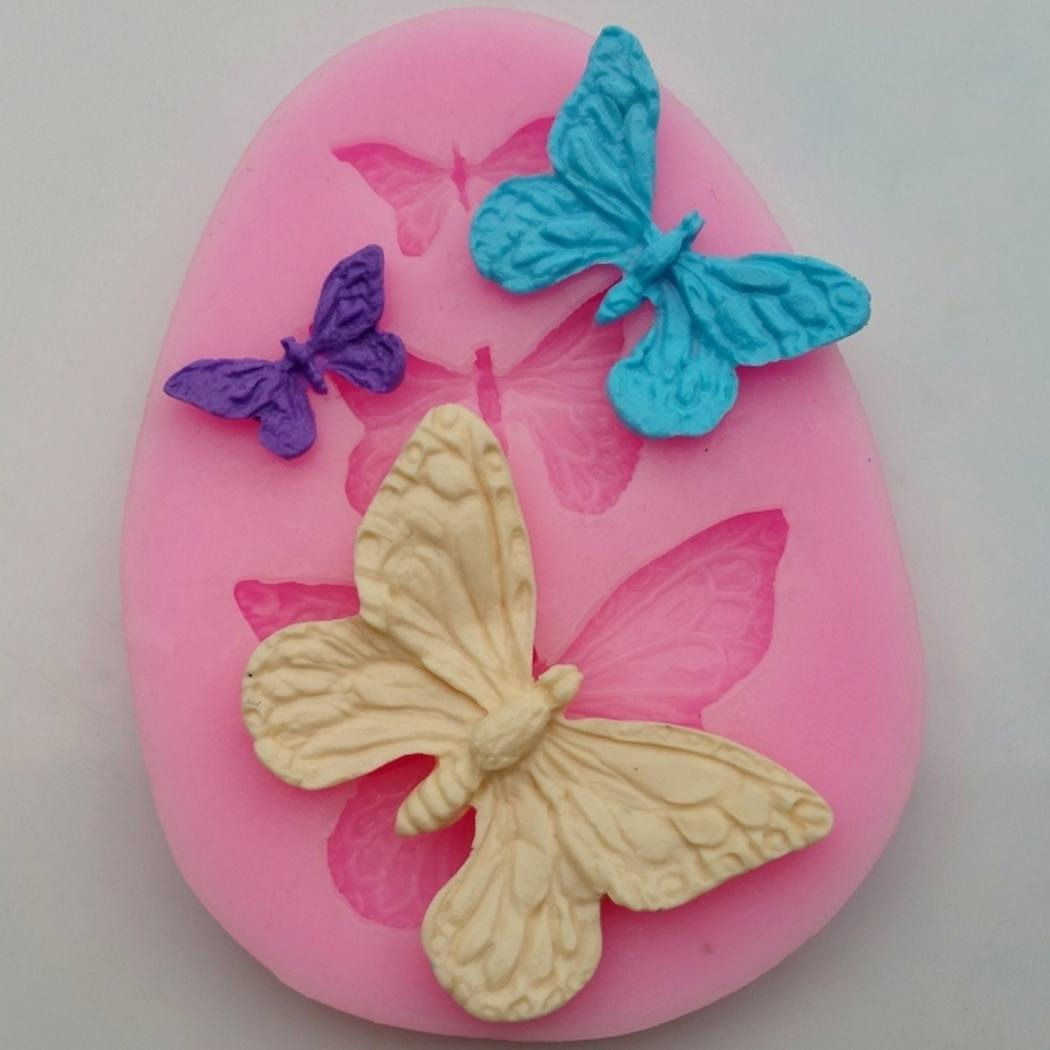 3D Butterfly Cake Wedding Decorating Mold Silicone Fondant Chocolate Baking Bakeware Tool Mold-2