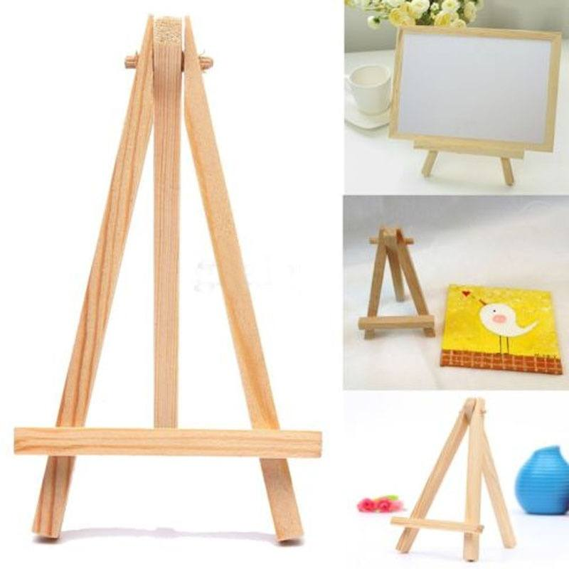 Mini Wooden Cafe Table Number Easel Wedding Place Name Card Holder Stand