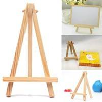 DJpM-Mini Wooden Cafe Table Number Easel Wedding Place Name Card Holder Stand
