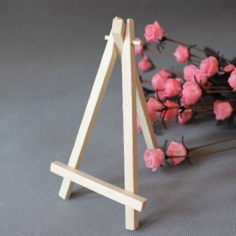 Mini Wooden Cafe Table Number Easel Wedding Place Name Card Holder Stand-1