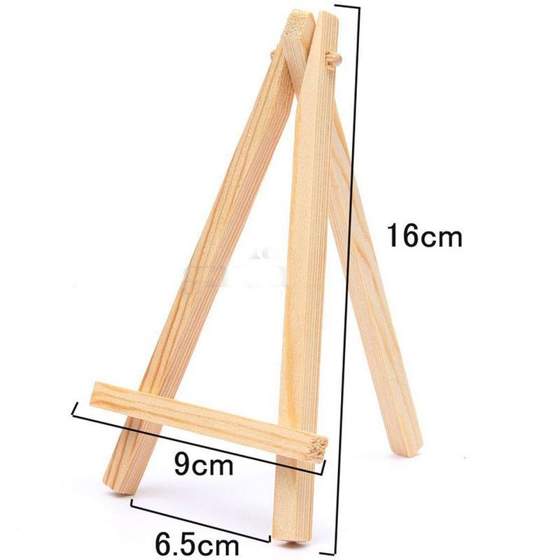 Mini Wooden Cafe Table Number Easel Wedding Place Name Card Holder Stand-2