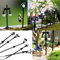 Ddti-5Pcs Craft Pop Streetlight Garden Ornament Hot Decor Plant Pot Dollhouse Fairy Miniature