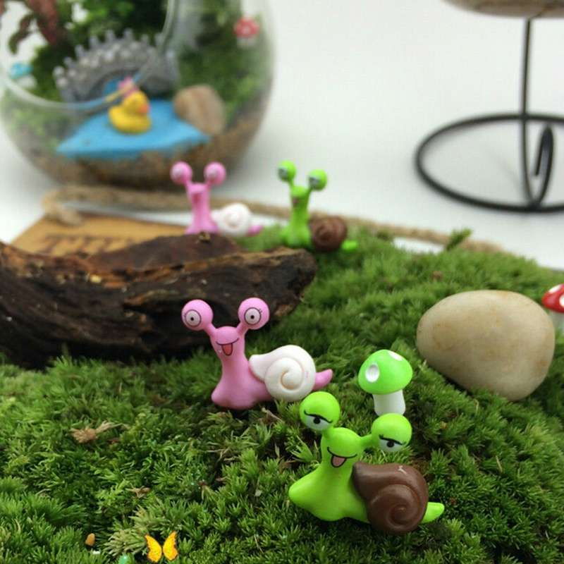 Garden Ornament Miniature Snail Figurine Resin Craft Fairy Dollhouse Decor DIY-2