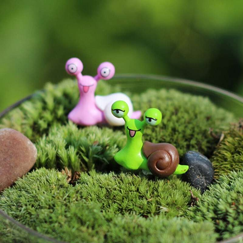Garden Ornament Miniature Snail Figurine Resin Craft Fairy Dollhouse Decor DIY-3