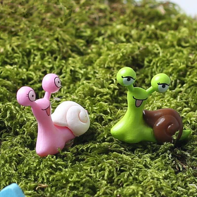 Garden Ornament Miniature Snail Figurine Resin Craft Fairy Dollhouse Decor DIY-4