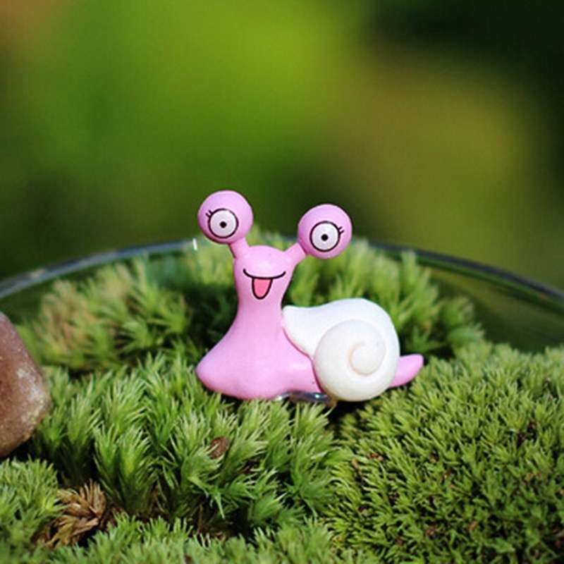Garden Ornament Miniature Snail Figurine Resin Craft Fairy Dollhouse Decor DIY-5
