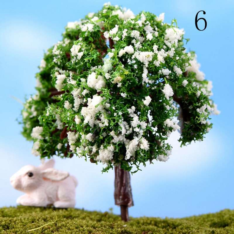 Mini Trees Fairy Garden Dollhouse Moss Plant Figurine DIY Craft Micro Landscape-6