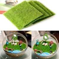 Dov2-Artificial Garden Grass Lawn Moss Miniature Craft Pot Fairy Dollhouse Decor DIY